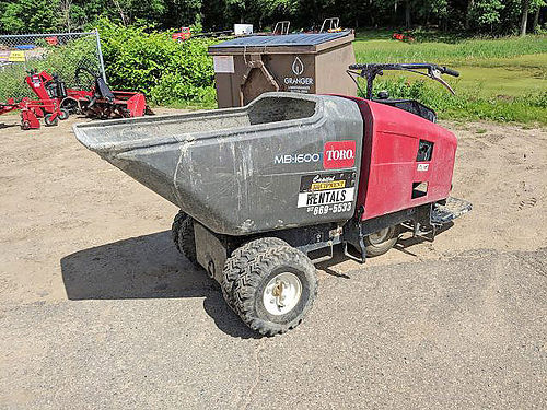 TORO Mud Buggy 11hp Honda engine 16 cubic feet capacity travel speed of up to 7mph op weight 144
