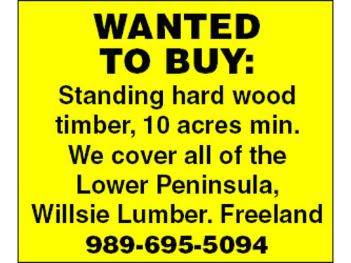 WILLSIE LUMBER - 9770 PIERCE RD FREELAND MI 48623