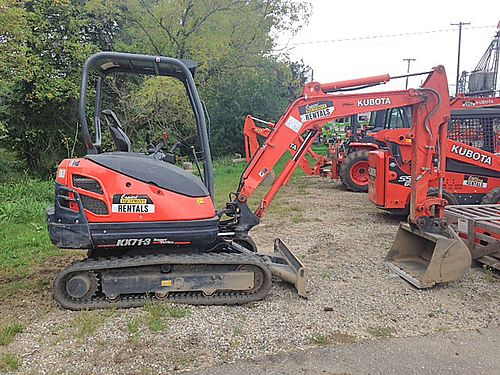 KUBOTA KX71 Excavator S21025 op weight 6300lb 275hp Kubota diesel max dig depth of 97 18