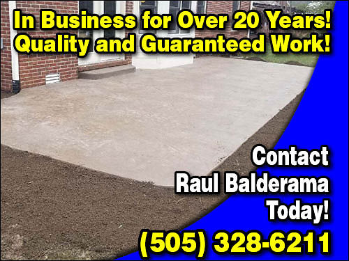 CONCRETE Driveways Patios Cement Slabs Cinder Block Walls Stucco Work Roofing of All Types In