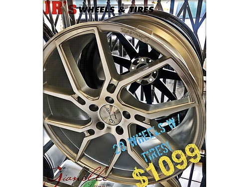 "GIANELLE 20"" WHEELS WITH TIRES 245/35R20 PACKAGE ..."