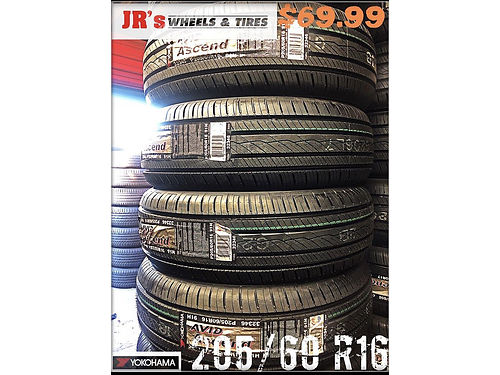 YOKOHAMA Tires on sale now 20560R16 6999 each while supplies last We have a variety of styles