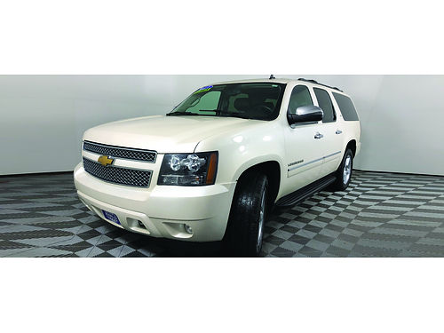 2013 CHEVROLET SUBURBAN LTZ 4WD 3rd Row Parking Sensors Sunroof Dual Rear DVD Heated Cooled Lea