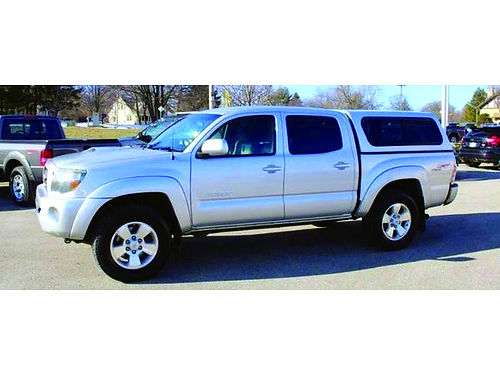 2010 TOYOTA TACOMA TRD SPORT 4X4 1 Owner Clean Carfax 40L V6 Cruise Ctrl Matching Bed Cap Tow