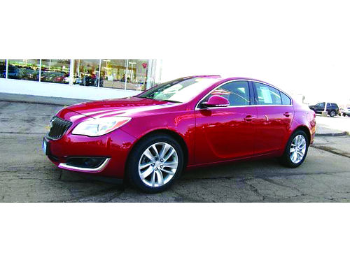 2015 BUICK REGAL TURBO GM Factory Cert Clean 1-Owner Carfax Pwr Driver Seat Sunroof Steering Whe
