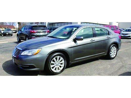 2013 CHRYSLER 200 TOURING Clean 1-Owner Carfax Steering Wheel Ctrls CDAUX Pwr Driver Seat Keyle