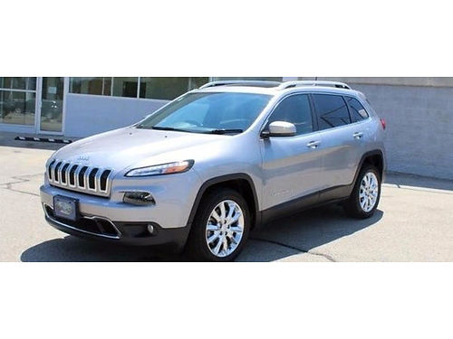 2017 JEEP CHEROKEE LIMITED 17K Miles Below Avg Clean 1-Owner Carfax Heated Lthr Panoramic Sunroof