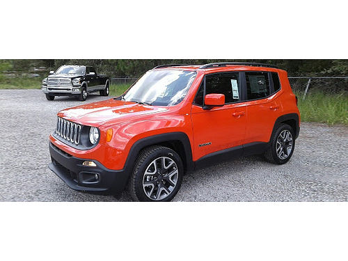 2018 JEEP RENEGADE LATITUDE 4WD 1-Owner Trade In Omaha Orange ParkView Bckp Cam Cld-Wthr Pkg Stee