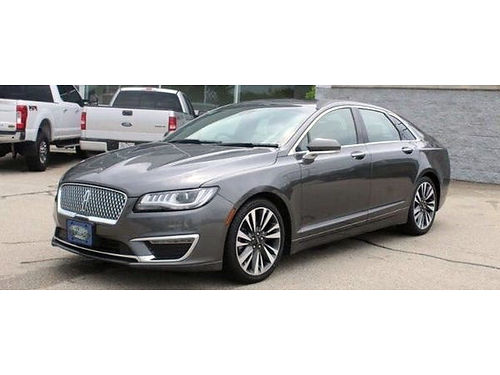 2018 LINCOLN MKZ RESERVE AWD 1 Owner Front  Rear HeatedCooled Lthr Remote Start Backup Cam Sun
