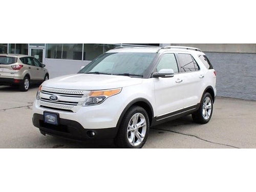 2015 FORD EXPLORER LIMITED 4WD Clean 1-Owner Carfax Navi 3rd Row Front  Rear Heated Lthr Backup