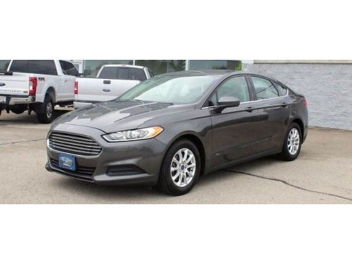 2016 FORD FUSION S Clean Carfax Steering Wheel Audio Ctrls Bluetooth Backup Cam CD Player Power
