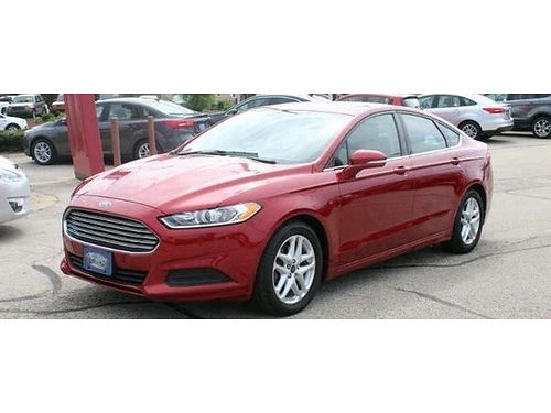 2014 FORD FUSION SE Clean Carfax 1 Owner Steering Wheel Audio Ctrls Bluetooth Backup Cam Power
