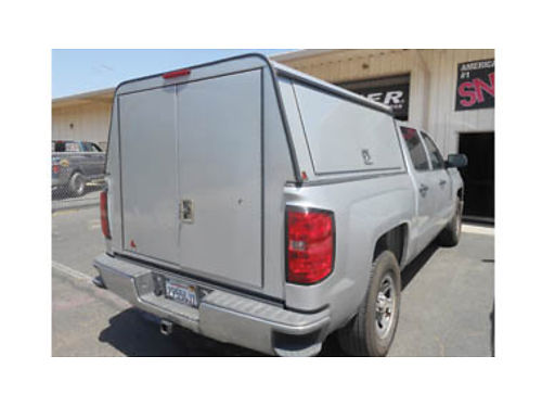 LEER UTILITY ALUMINUM SHELL Fits 2014-18 Chevy 1500 Silverado Crew Cab 5-12ft bed 850 obo Call