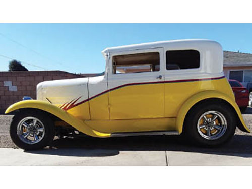 1931 FORD VICTORIA steel body  fenders 350 cu in 350 turbo Mustang II front end w custom A-a