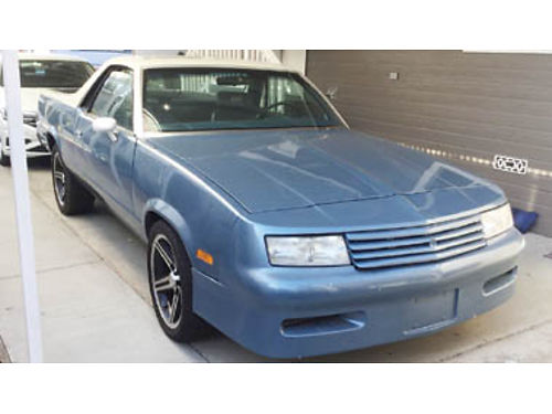 1985 CHEVY EL CAMINO SS V8 AT pw pdl tilt wheel buckets seats wconsole shift SS gauges in da