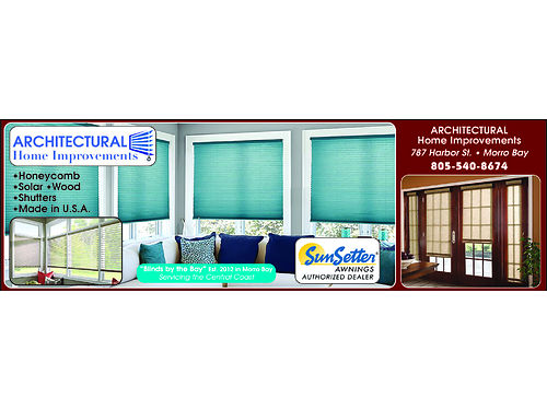 ARCHITECTURAL HOME IMPROVEMENTS - Sunsetter Awnings Authorized Dealer Blinds  Shades Shutters Fi