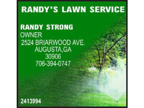Randys Lawn Service Prompt 1x Cut Or Regular Service Hedge Trimming Tree Trimming  Removal Ferti