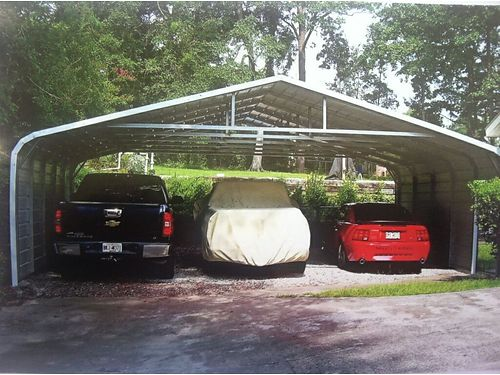 3 CAR CARPORT 28x21x8 Build on site We handle the permits so you dont have to