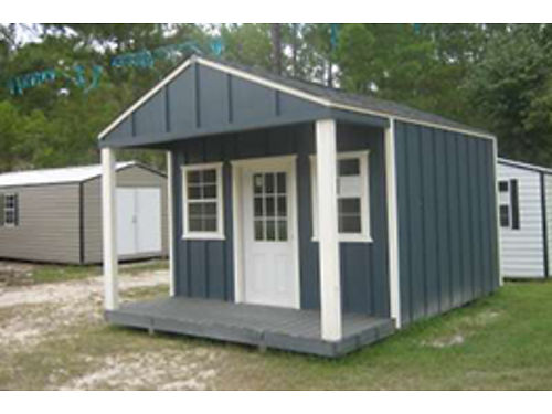 Hardie Board Storage Building with Front Porch 803-663-4319