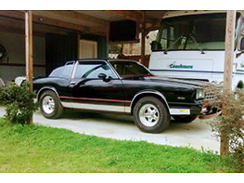 1985 CHEVY MONTE CARLO second owner with original paper work all original parts will make great sh
