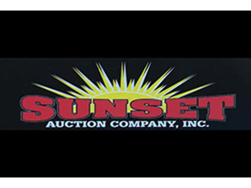 Sunset Auction Company Auction schedule March 7th March 21st April 4th  18th 706-361-0583 Sunse