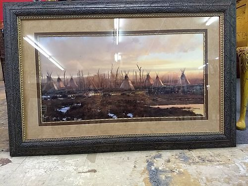 FRAMED PHOTO 1 Owner Professionally Framed  Matted Native American Artist Gary Montgomery 299