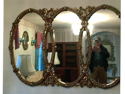 WEDDING RING MIRROR ornate 250 423-538-4195