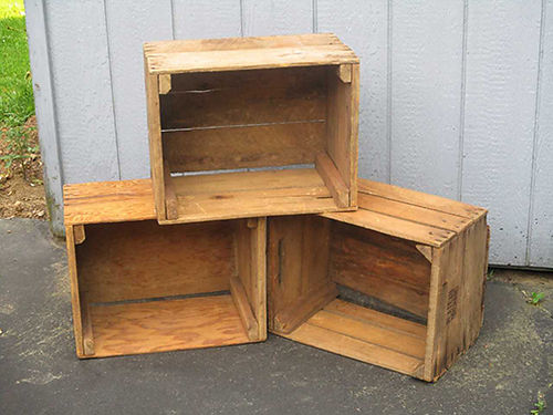 ANTIQUE APPLE CRATES 12 Antique Wooden Apple Crates 300 for all 12 Good Condition Judy Adkins 4