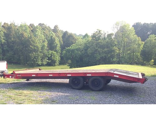 2001 FLAT BED TRAILER 26 w20 flat bed hand crank no ramps 6000 423-323-8163