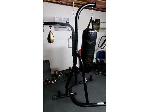 PUNCHING BAG and SPEED BAG combo free standing by Everlast like new compare to Dicks for 200