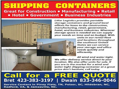 PORTABLE STORAGE CONTAINERS Great for Construction Retail - Hotel Manufacturing Business FREE QUOTE