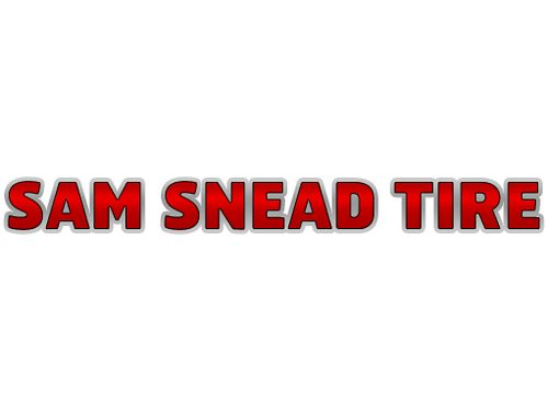 SAM SNEAD TIRE  SERVICE CENTER We Sell  Service ALL Major Tire Brands FULL ME