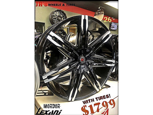 26 MORDOR Lexani Wheels with 29530R26 Tires Package deal price 1799 while supplies last We have