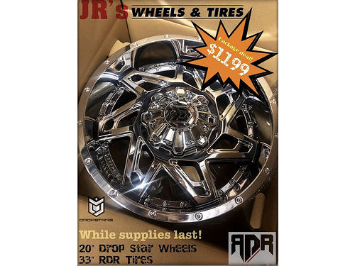 PACKAGE deal alert 20 Drop Star Wheels and 33 RDR Tires for 1199 Limited time offer We have a